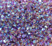 25 x 4mm SWAROVSKI® ELEMENTS Light Amethyst AB2x  Xilion Beads